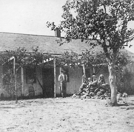 Briones' rancho home, in 1880s or early 1890s.