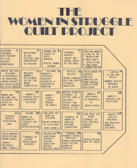Woman in Struggle Quilt Project